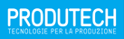 produtech logo white on blue background